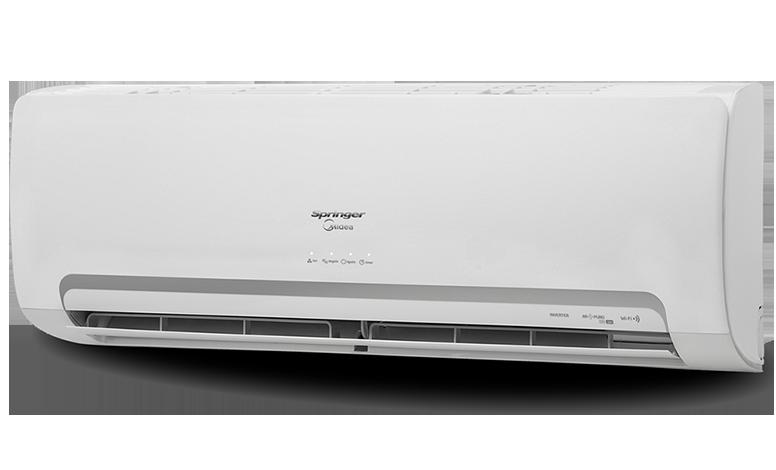 5ded646a4 O Ar-Condicionado Springer Midea Inverter Wi-Fi traz conforto térmico com  praticidade e economia. O SISTEMA INVERTER reduz o consumo de energia de  até 60% ...